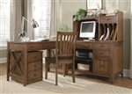 Hearthstone 4 Piece Home Office in Rustic Oak Finish by Liberty Furniture - 382-HO