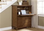 Hearthstone Computer Cabinet in Rustic Oak Finish by Liberty Furniture - 382-HO108