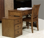 Hearthstone Writing Desk in Rustic Oak Finish by Liberty Furniture - 382-HO111