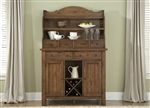 Hearthstone Server & Hutch in Oak Finish by Liberty Furniture - 382-SR5074H