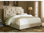 Sloped Panel Bed in Natural Linen Fabric by Liberty Furniture - LIB-400-BR13HU