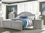 Summer House Panel Bed in Grey Finish by Liberty Furniture - 407-BR-QPB