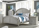Summer House Poster Bed in Grey Finish by Liberty Furniture - 407-BR-QPS