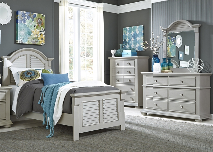 Summer House 4 Piece Youth Bedroom Set In Grey Finish By Liberty Furniture 407 Br Y