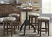 Arlington House Counter Height Gathering Table 5 Piece Dining Set in Cobblestone Brown Finish by Liberty Furniture - LIB-411-DR-5GTS