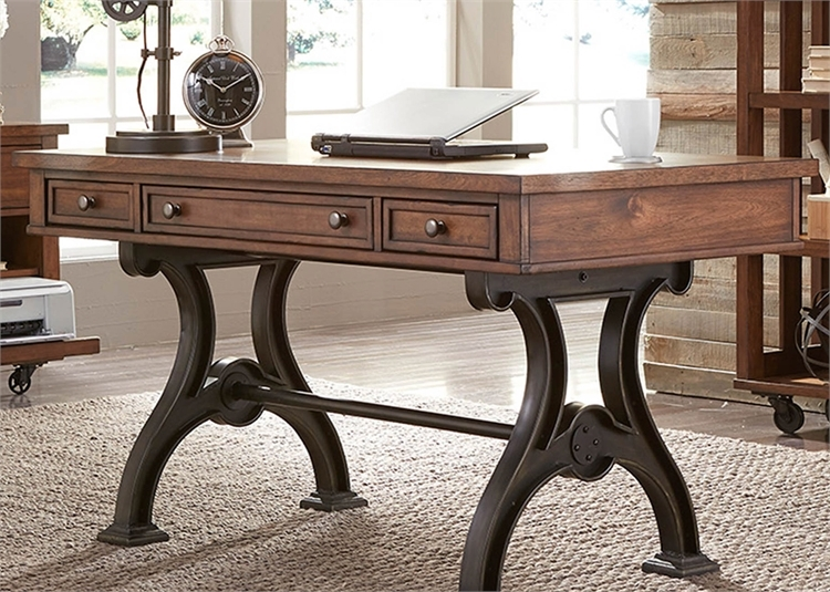 Arlington house writing desk in cobblestone brown finish for Furniture 411