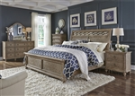 Simply Elegant 6 Piece Bedroom Set in Heathered Taupe Finish by Liberty Furniture - 412-BR