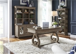 Simply Elegant 4 Piece Home Office Set in Heathered Taupe Finish by Liberty Furniture - 412-HO
