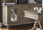 Simply Elegant Credenza in Heathered Taupe Finish by Liberty Furniture - 412-HO120