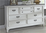 Allyson Park Sideboard in Wirebrushed White Finish with Wire Brushed Charcoal Top by Liberty Furniture - 417-BR31
