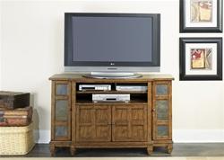 Santa Fe 56 Inch Tv Stand In Dark Rustic Oak Finish By Liberty