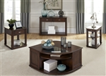 Wallace Cocktail Table in Dark Toffee Finish by Liberty Furniture - 424-OT1010