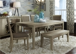 Sun Valley 72 Inch Rectangular Leg Table 6 Piece Dining Set in Sandstone Finish by Liberty Furniture - 439-DR-6RLS