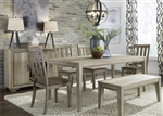 Sun Valley 72 Inch Rectangular Leg Table 6 Piece Dining Set in Sandstone Finish by Liberty Furniture - 439-DR-6RTS
