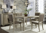 Sun Valley 72 Inch Rectangular Leg Table 5 Piece Dining Set in Sandstone Finish by Liberty Furniture - 439-DR-O5RLS