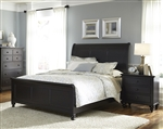 Hamilton Sleigh Bed in Black Finish by Liberty Furniture - 441-BR-QSL
