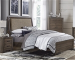 Clarksdale Upholstered Bed in Walnut Finish by Liberty Furniture - 445-BR-QUB