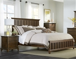 Mill Creek Panel Bed in Rustic Cherry Finish by Liberty Furniture - 458-BR-QPB