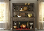 Stone Brook Buffet and Hutch in Rustic Saddle Finish by Liberty Furniture - 466-DR-HB