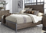 Sonoma Road Panel Bed in Weather Beaten Bark Finish by Liberty Furniture - 473-BR-QPB