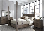 Sonoma Road Poster Bed in Weather Beaten Bark Finish by Liberty Furniture - 473-BR-QPS