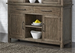 Sonoma Road Buffet in Weather Beaten Bark Finish by Liberty Furniture - 473-CB6236
