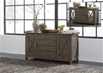 Sonoma Road Small Credenza in Weather Beaten Bark Finish by Liberty Furniture - 473-HO120