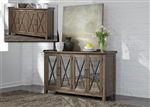 Sonoma Road Sideboard with Reversible Doors in Weather Beaten Bark Finish by Liberty Furniture -473-SB6237AM