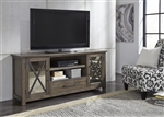 Sonoma Road 70 Inch Entertainment TV Stand in Weather Beaten Bark Finish by Liberty Furniture - 473-TV70
