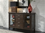 Pebble Creek Server in Weathered Tobacco Finish by Liberty Furniture - 476-SR6036