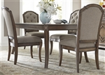 Amelia Rectangular Leg Table 5 Piece Dining Set in Antique Toffee Finish by Liberty Furniture - 487-DR-5RLS