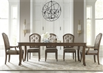 Amelia Rectangular Leg Table 7 Piece Dining Set in Antique Toffee Finish by Liberty Furniture - 487-DR-7RLS