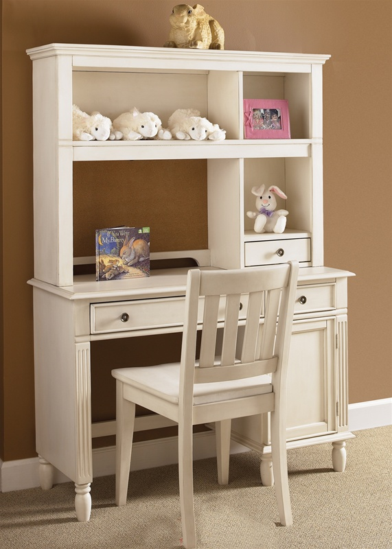 Daydreams Youth Student Desk & Hutch in Antique White Finish by Liberty  Furniture - 500-W-BR70 - Daydreams Youth Student Desk & Hutch In Antique White Finish By