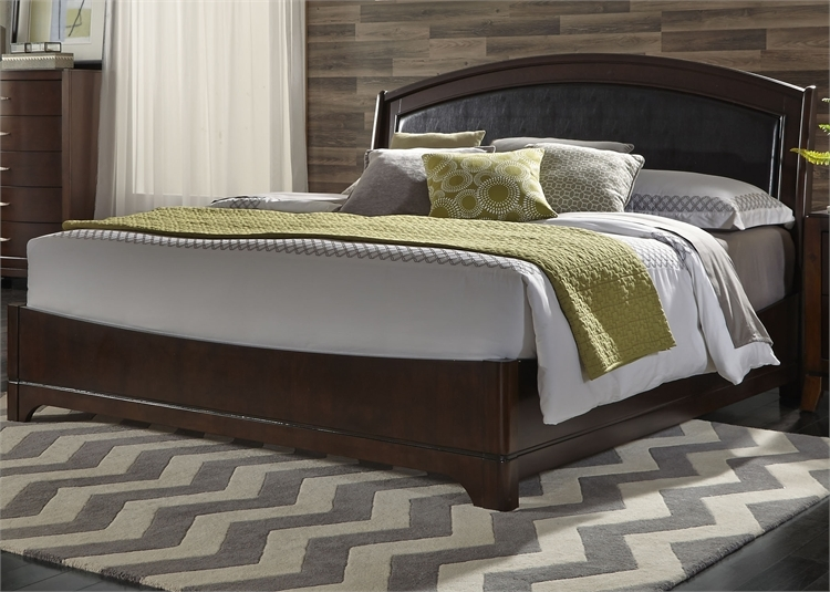 Avalon Upholstered Bed In Dark Truffle Finish By Liberty Furniture 505 Br Qlb