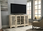 Bay Pointe 64 Inch TV Console in Rustic White Finish by Liberty Furniture - 513-TV64