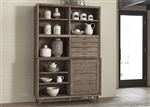 Miramar Buffet and Hutch in Weathered Pine Finish by Liberty Furniture - 514-CB5278