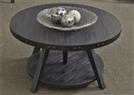 Aspen Skies Motion Cocktail Table in Wire Brushed Black Finish with Wear Thru by Liberty Furniture - 516-OT1011