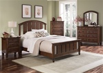 Taylor Springs Panel Bed 6 Piece Bedroom Set in Bronze Cherry Finish by Liberty Furniture - 521-BR