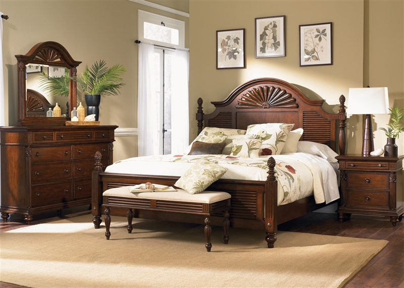 Landing Poster Bed Piece Bedroom Set In Tobacco Finish By - Liberty furniture industries bedroom sets