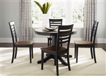 Cafe Collections Round Pedestal Table 3 Piece Dining Set in Black & Cherry Finish by Liberty Furniture - 53-T4242