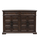 Lucca Server in Cordovan Brown Finish by Liberty Furniture - 535-SR6242