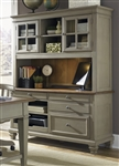 Bungalow Jr Executive Credenza & Hutch in Driftwood & Taupe Finish by Liberty Furniture - 541-HO120