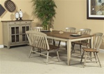 Al Fresco 6 Piece Dining Set in Driftwood & Taupe Finish by Liberty Furniture - 541-T4074-6