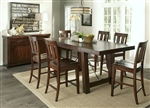 Tahoe Gathering Counter Height Table 5 Piece Dining Set in Mahogany Stain Finish by Liberty Furniture - 555-CD-5GTS