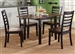 Cafe Drop Leaf Table 5 Piece Dining Set in Black and Cherry Two Tone Finish by Liberty Furniture - 56-CD-5DLS