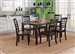 Cafe Rectangular Leg Table 5 Piece Dining Set in Black and Cherry Two Tone Finish by Liberty Furniture - 56-CD-5RLS