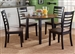 Cafe Round Table 5 Piece Dining Set in Black and Cherry Two Tone Finish by Liberty Furniture - 56-CD-5ROS