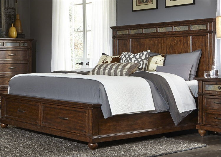 Coronado Storage Bed 6 Piece Bedroom Set In Tobacco Finish By Liberty Furniture 562 Br Qsbdmn