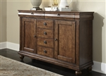 Rustic Tradition Server in Rustic Cherry Finish by Liberty Furniture - 589-SR5842