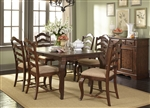Woodland Creek Rectangular Leg Table 5 Piece Dining Set in Rust Russet w/ Heavy Distressing Finish by Liberty Furniture - 606-CD-5RLS